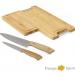 Tabla De Bamboo Con Set De Cuchillos